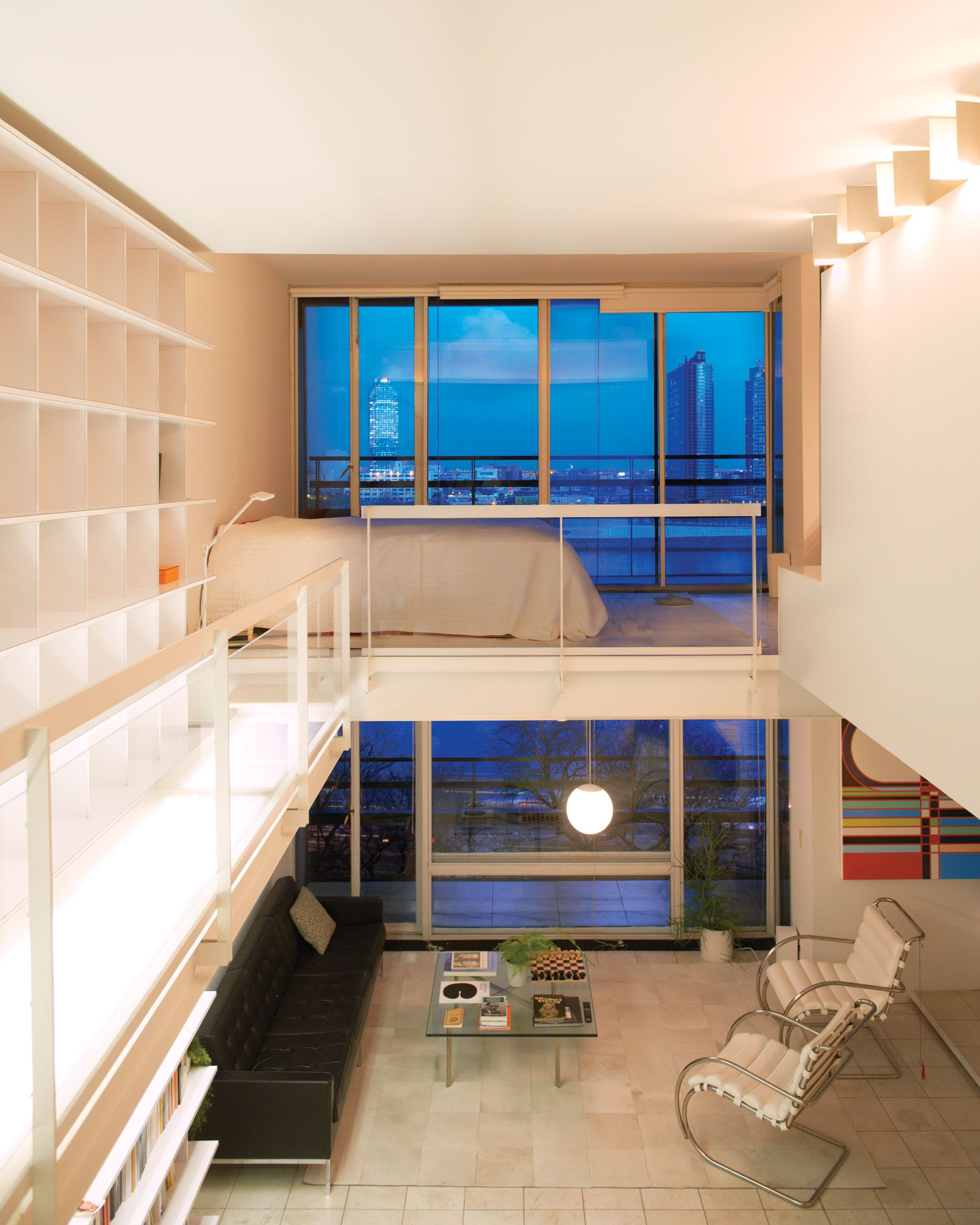 Apartment Inside Night thinking inside the box | catwalks, apartments and small living