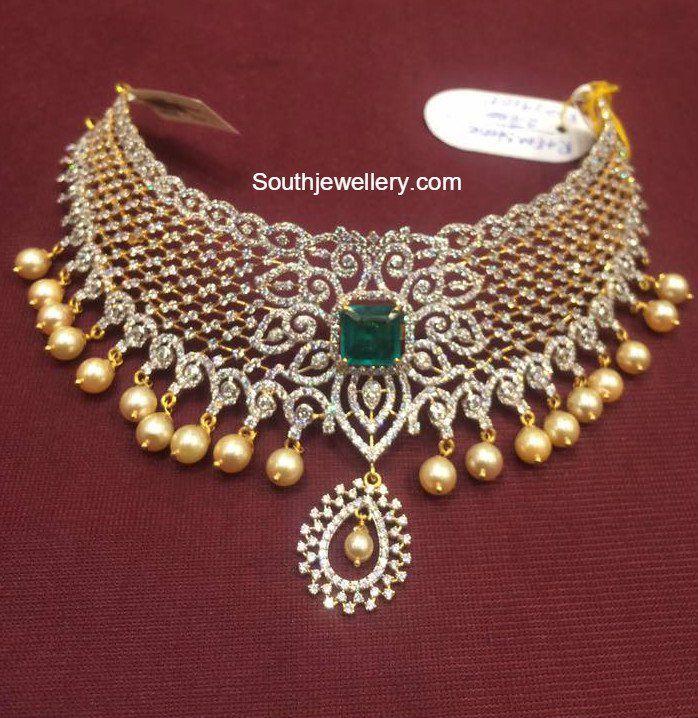 Diamond Imitation Cz Choker Diamond Chocker Necklace