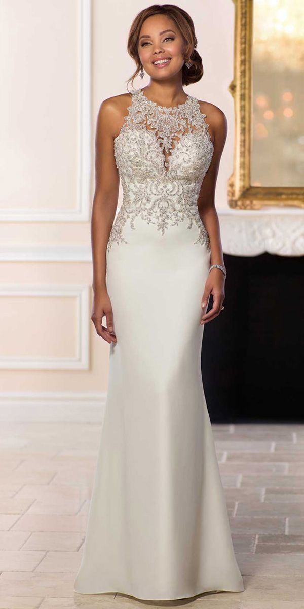 Magbridal Attractive Tulle  Satin Jewel Neckline Natural Waistline Mermaid Wedding Dress With Beaded Lace Appliques  Attractive Tulle  Satin Jewel Neckline Natural Waistl...