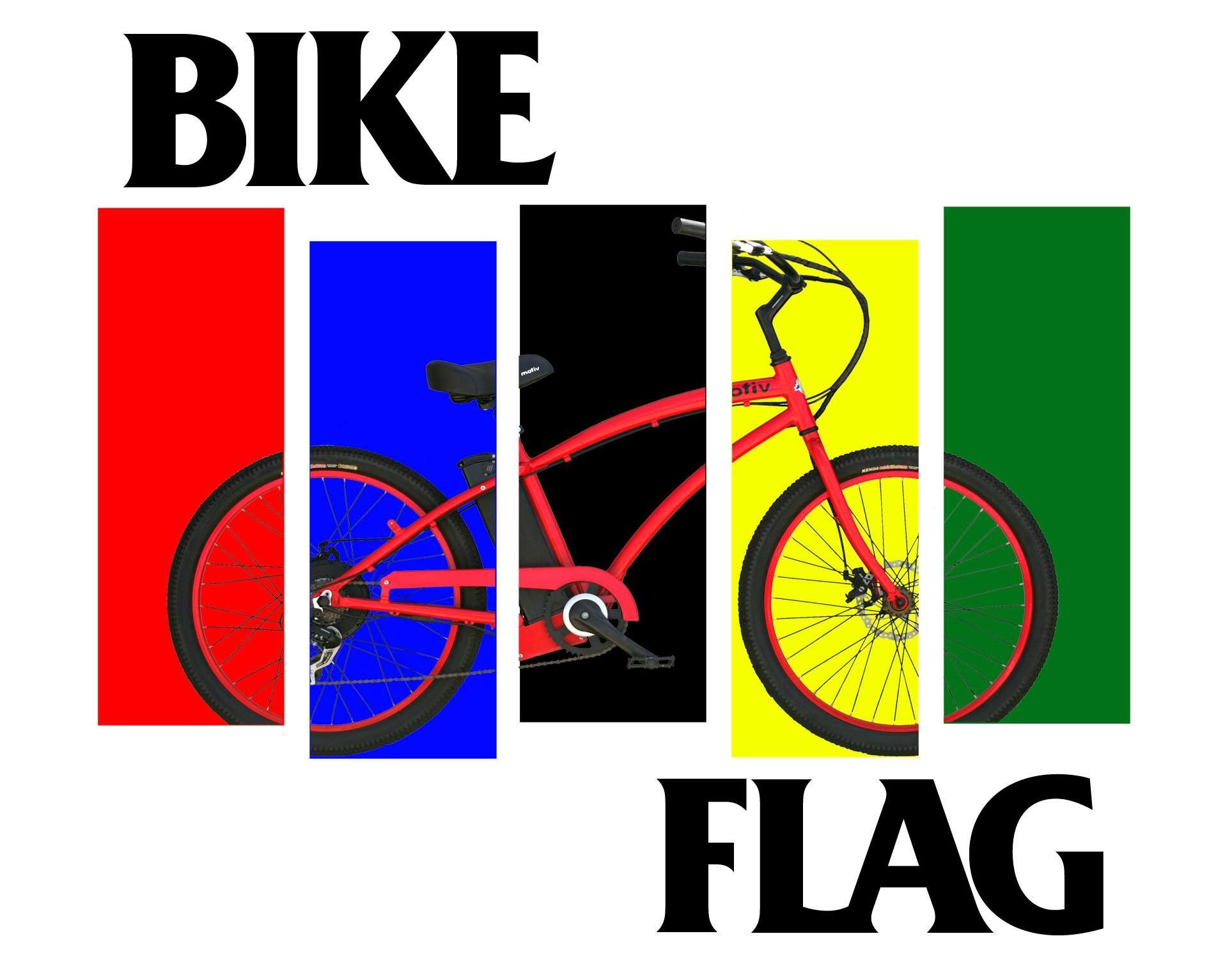 Motiv Electric Bike Standard Bike Electric Bike Flag