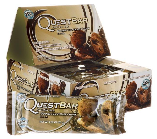 Quest Bars (12x 60g) Double Choco Chunk fra Proteinfabrikken. Om denne nettbutikken: http://nettbutikknytt.no/proteinfabrikken-no/