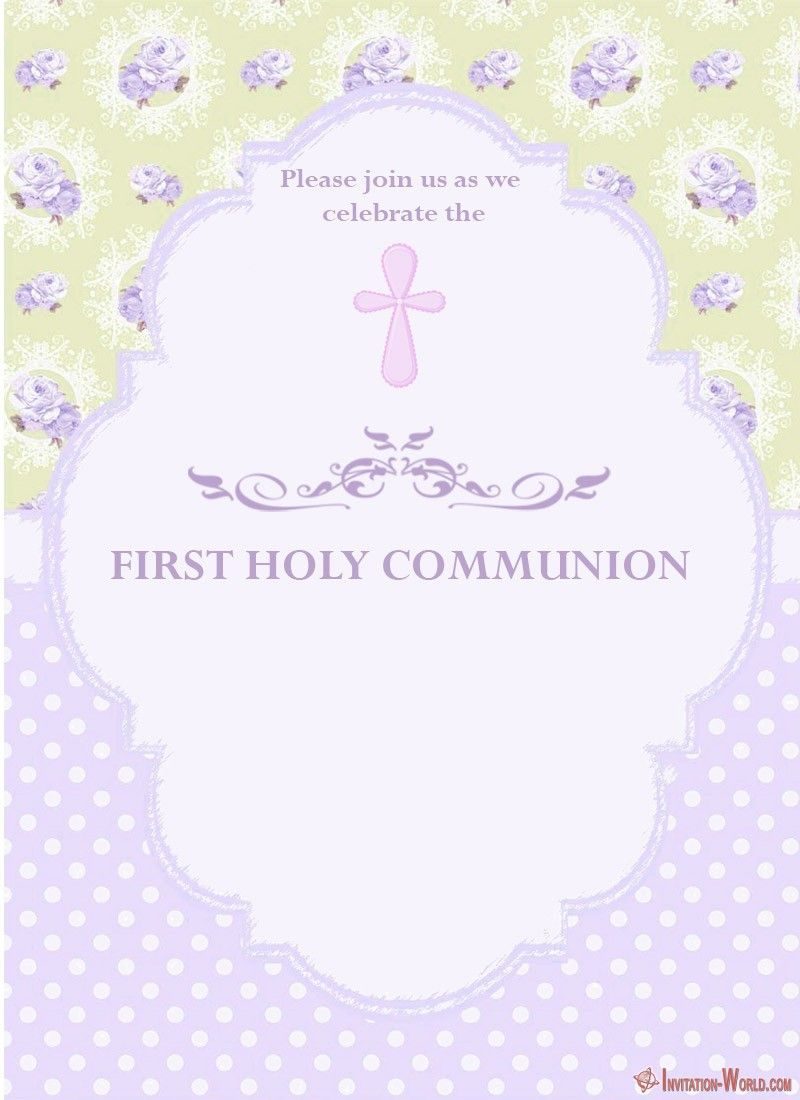 image about First Communion Invitations Free Printable referred to as 1st Communion Invitation Playing cards Coolest Invitation
