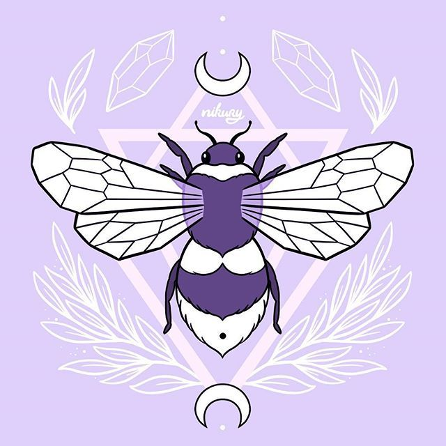 Pastel Witchy Bee By Nikury Witchy Wallpaper Witch Wallpaper Pastel Goth Art