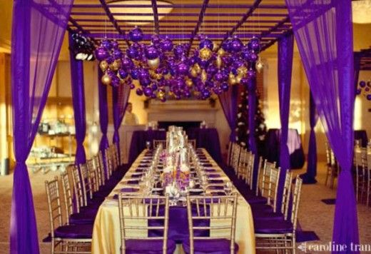 Ideas: Planning a Purple and Gold Wedding Theme | Gold weddings ...