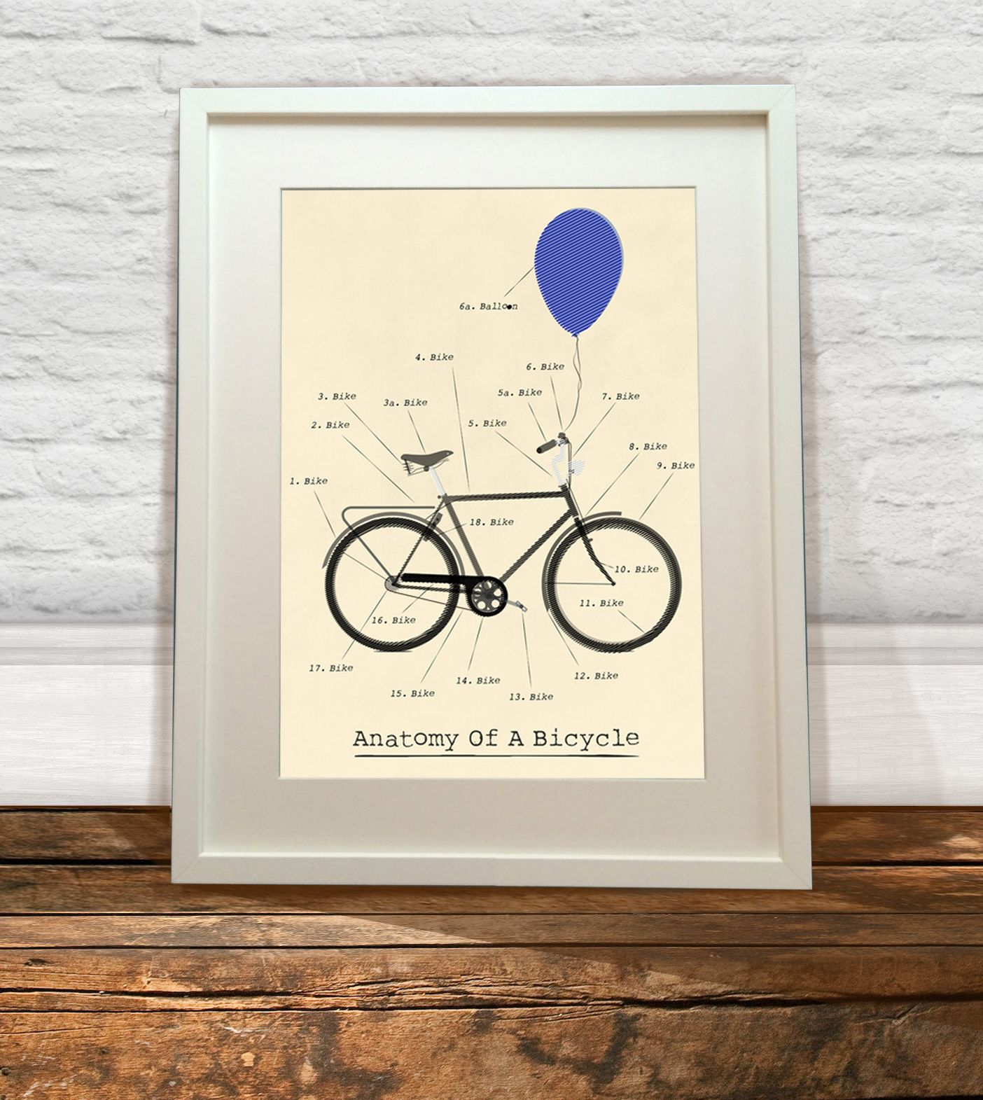 This Anatomy Of A Bicycle Print Would Make A Great Gift For A Keen