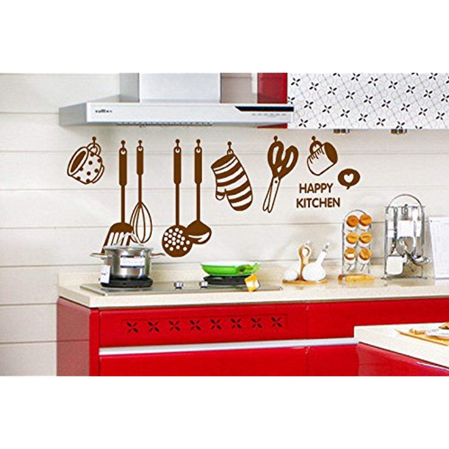 removable kitchen decorations creative home transparent on wall stickers for kitchen id=39375