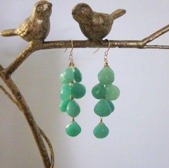 $84 sea foam earrings