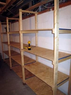 Attirant How To Build Inexpensive Basement Storage Shelves By Rocky1464