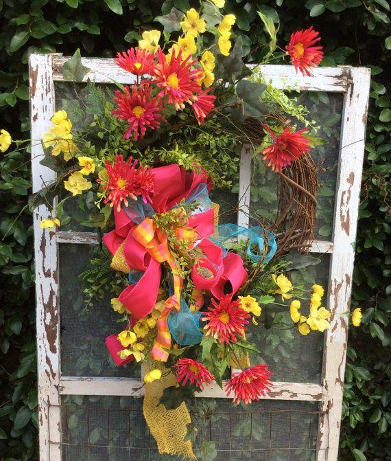 Whimsical Spring WreathSpring Wreath Spring Door Wreath by Keleas