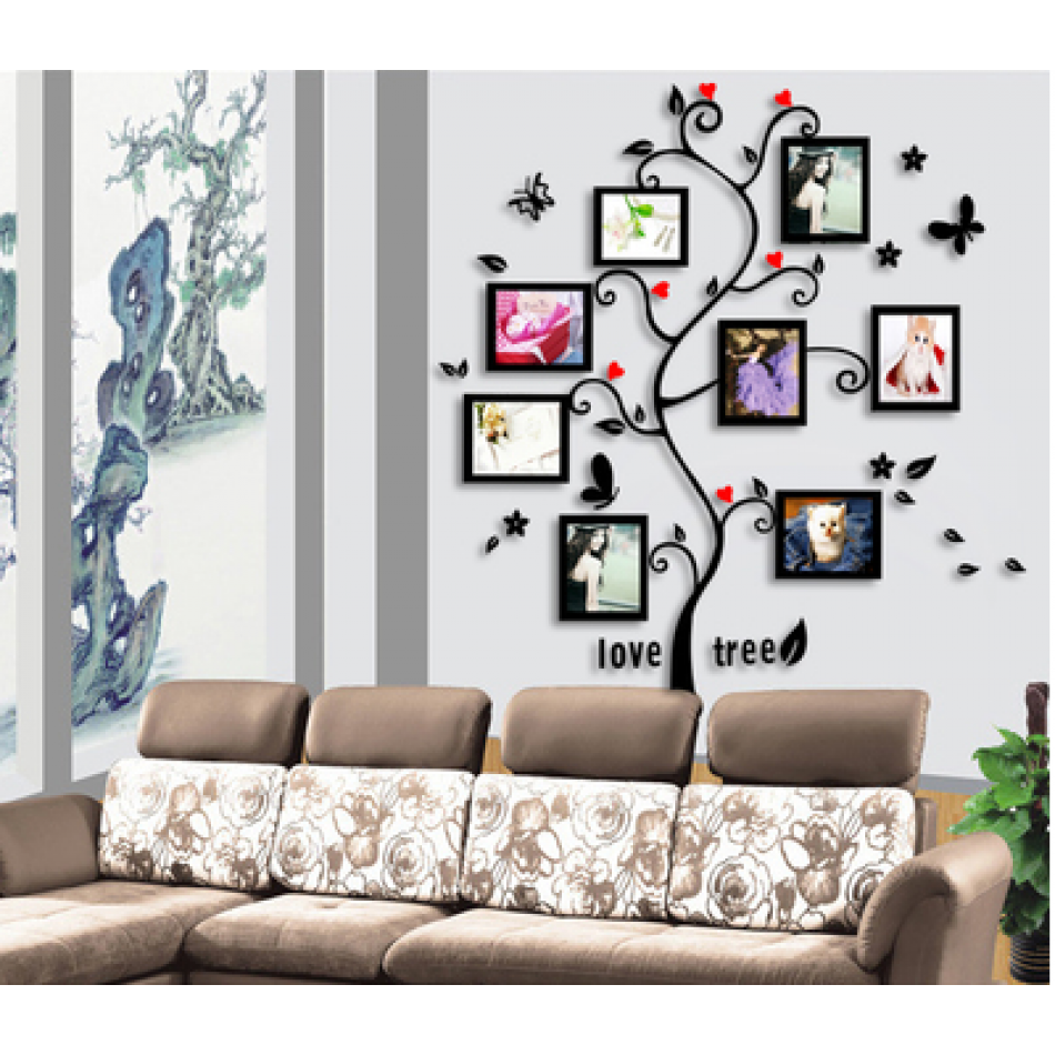 Living Room Tree Photo Frames Wall Decal Sticker | gram\'s place ...