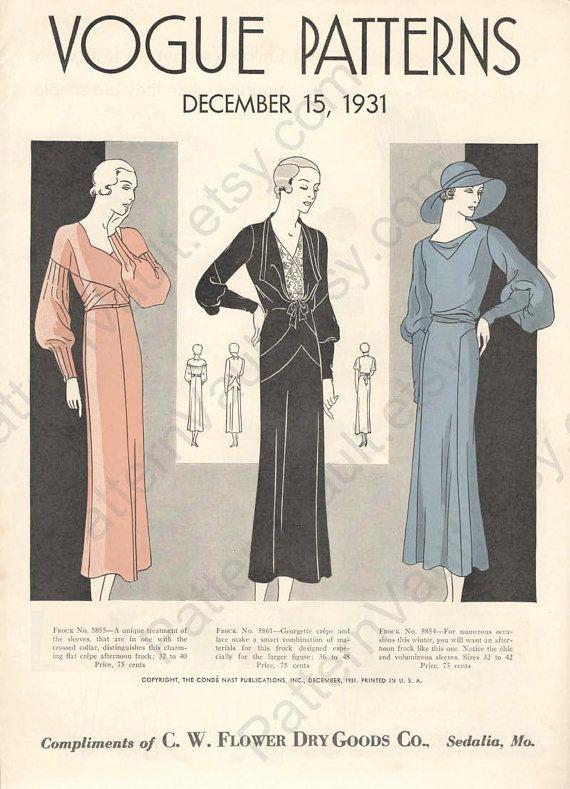 Resultado de imagen de 1930S IN VOGUE | 30th | Pinterest | Cartas de ...