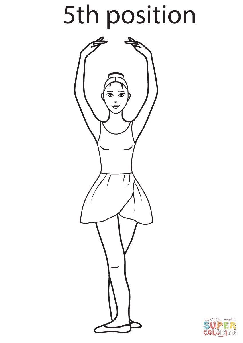 Uncategorized Ballet Positions Coloring Pages ballet 5th position super coloring pinterest dance page from category select 20946 printable crafts