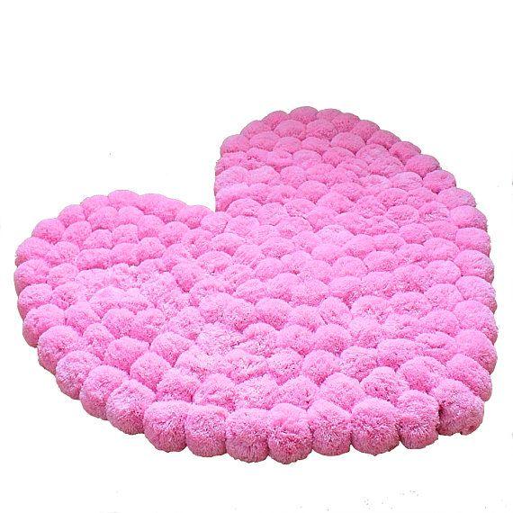 Rosa Herz Ist Einfach Perfekt Als Mdchen Zimmer Teppich Kleine Ein Baby  Mitte With Mdchen Teppich
