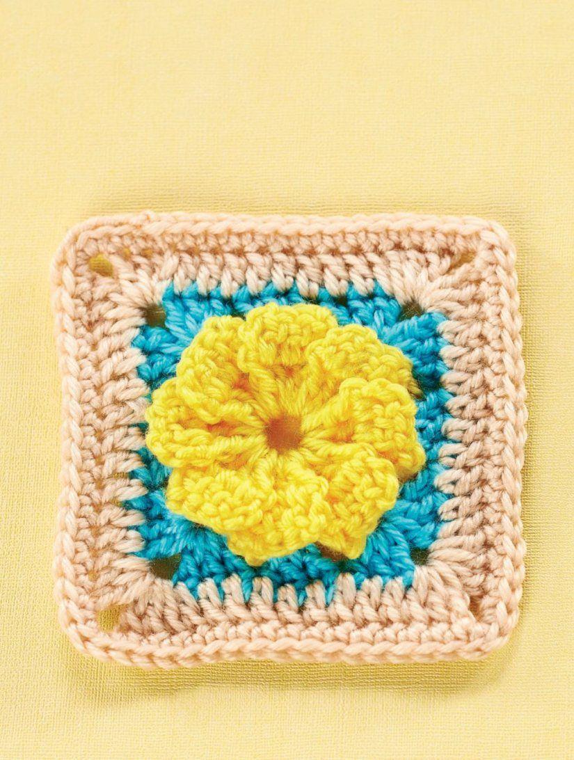 Flower granny square | Granny Square Patterns | Pinterest ...