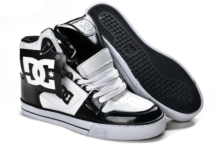 Womens DC High Tops Shoes White Black White.jpg 750×500 pixels