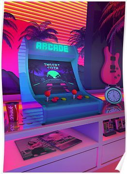 Arcade Dreams Poster In 2019 Aesthetic Bedroom Aesthetic