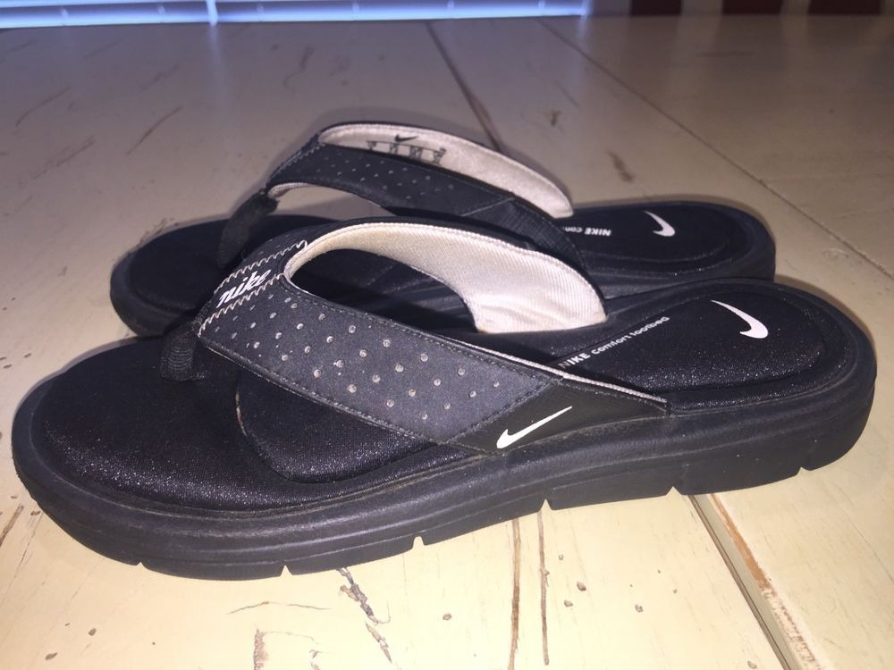 Policía Exactitud Posible  Nike Comfort Footbed Flip Flop Black Womens Size 5 cushioned sandal  athletic #fashion #clothing #shoes #accessories #… | Nike flip flops, Black  womens, Womens sizes