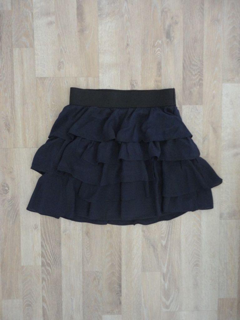 Pollera azul con volados y elastico en la cintura #zara Compra esta prenda online! www.saveweb.com.ar