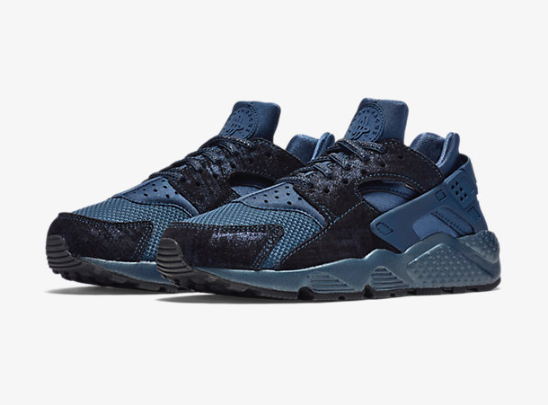 Nike Air Huarache Premium Metallic Armory Navy Sneaker Bar