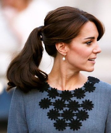 Image result for kate middleton pony tail hair