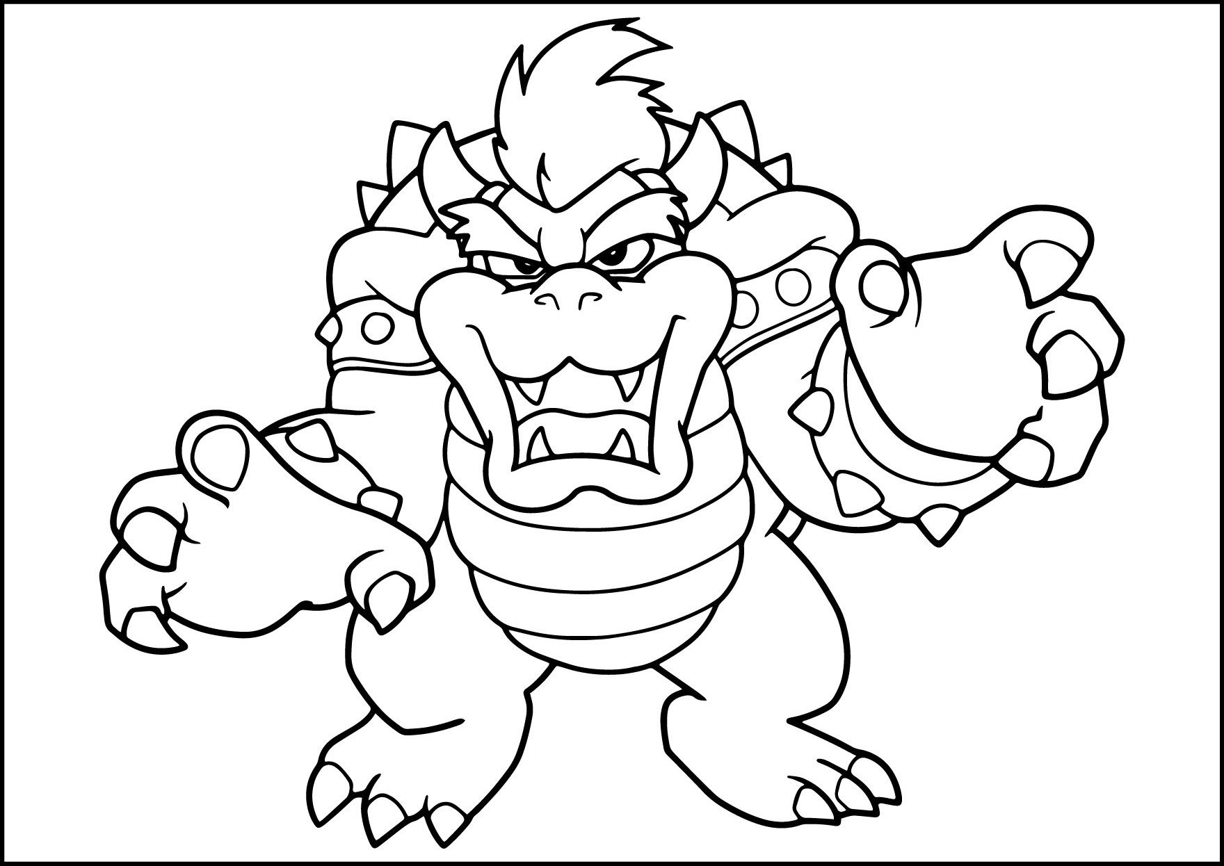 Mario Bros Bowser Coloring Pages By Sharon