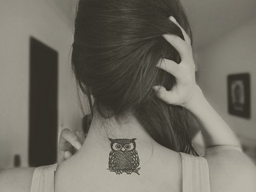 owl tattoo. I would do this and add my mommys name. She loved owls