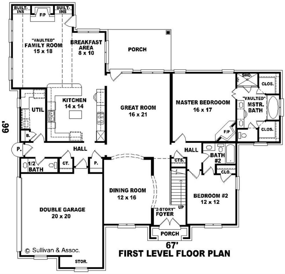 House plands big house floor plan large images for house for Two floor house plans