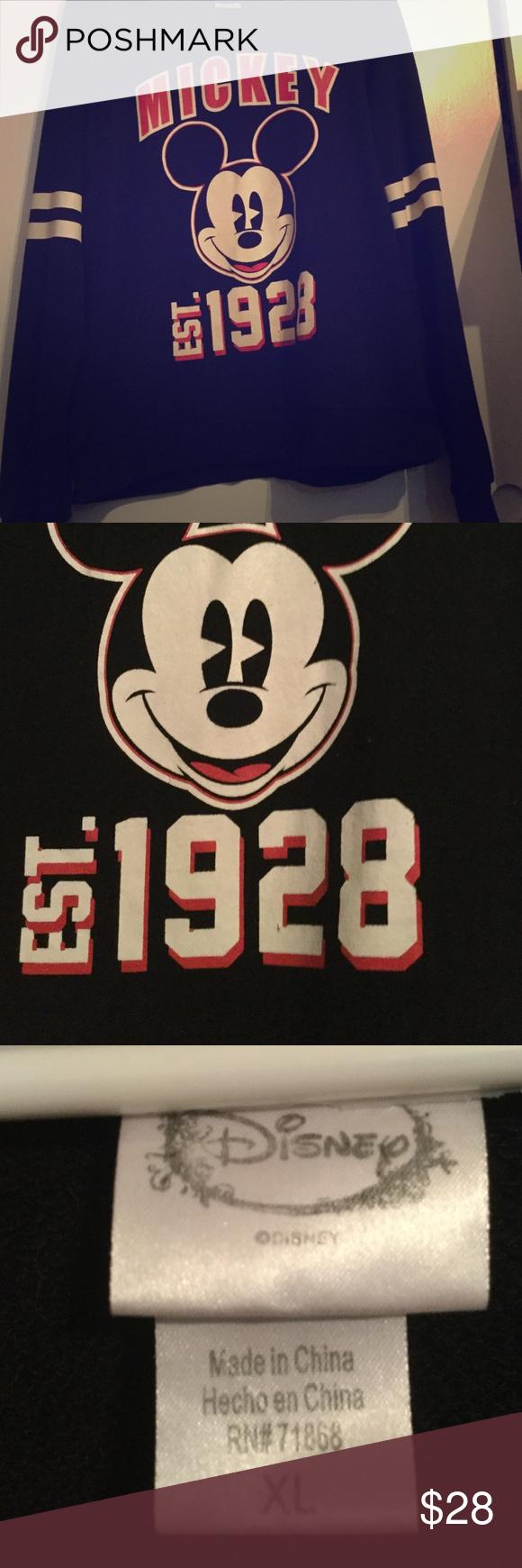 Mickey Mouse Sweater Mickey Mouse Sweater. Size XL. Worn a handful of times, but still in good shape. Disney Sweaters Crew & Scoop Necks