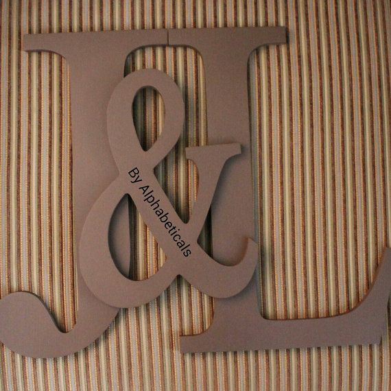 Initial Monogram Wall Decor Painted Wooden Letters