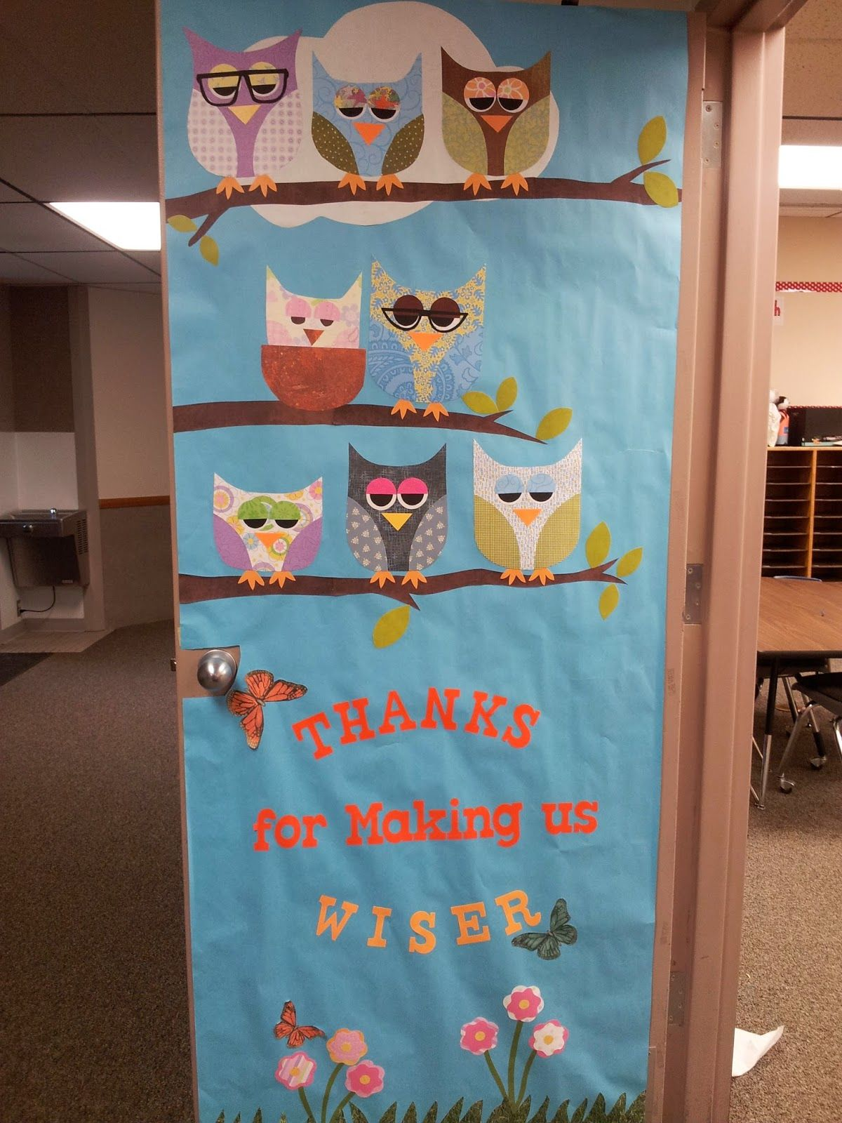 Owl Classroom Decoration Ideas ~ Teacher appreciation door decorating ideas southland