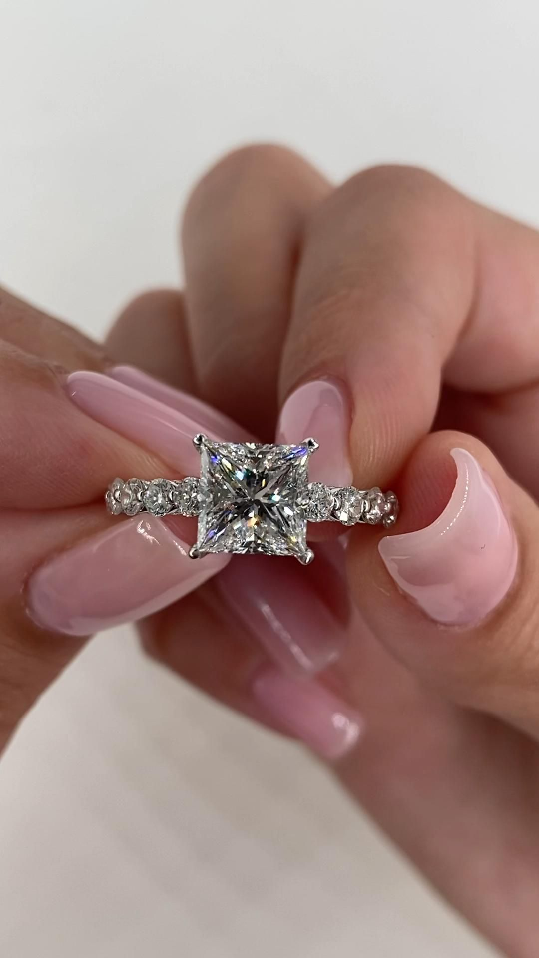 Princess Cut Diamond Engagement Ring 2.80 Carat Diamond Ring | Etsy