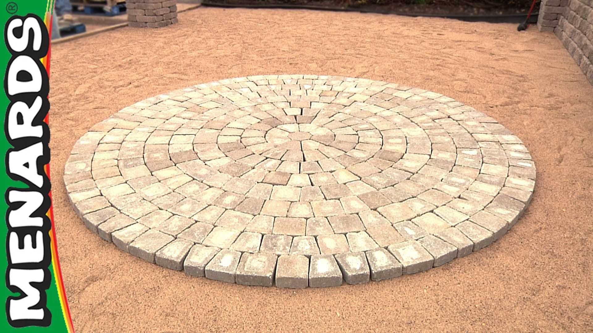 Circular Patio Kit How To Menards Backyard Ideas