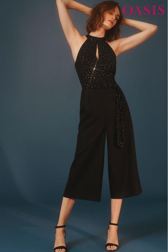 eff054484fb Womens Oasis Multicolour Glitter Spot Jumpsuit - Natural