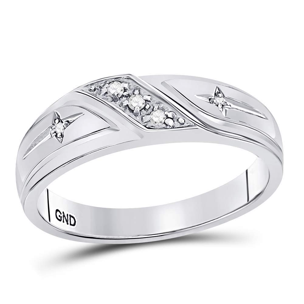 10k White Gold Round Diamond Mens Christian Cross Wedding Anniversary Band Ring 1 20 Ctt Christian Wedding Rings Wedding Jewelry Bracelets Boho Wedding Jewelry