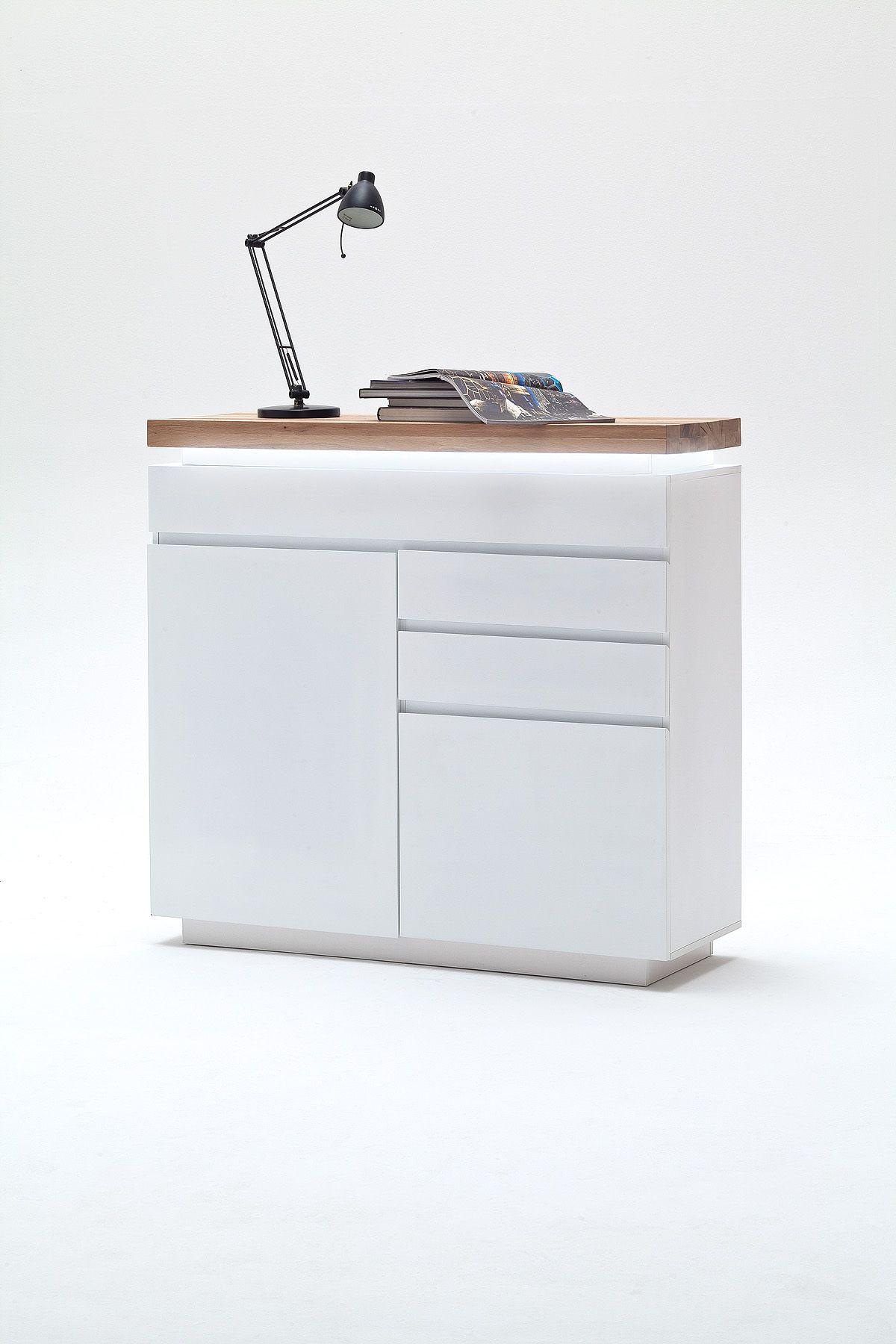 Commode Design Blanche buffet romina typ 96- combo en armoire latérale 2 portes – 3 tiroirs