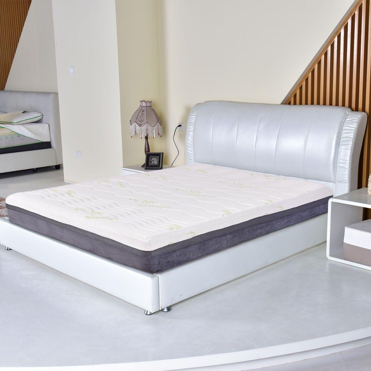 Four size 10 memory foam bamboo fiber mattress firm