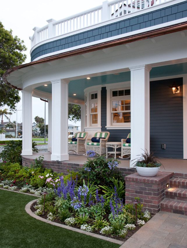 Front Porch Landscaping Ideas Frontporch Landscaping Flagg Coastal Homes