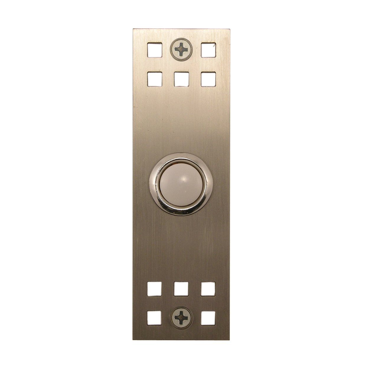 Waterwood Hardware 168 Craftsman Cover Doorbell Button Brushed Stainless Steel - Knobs and Hardware  sc 1 st  Pinterest & Waterwood Hardware 168 Craftsman Cover Doorbell Button Brushed ...