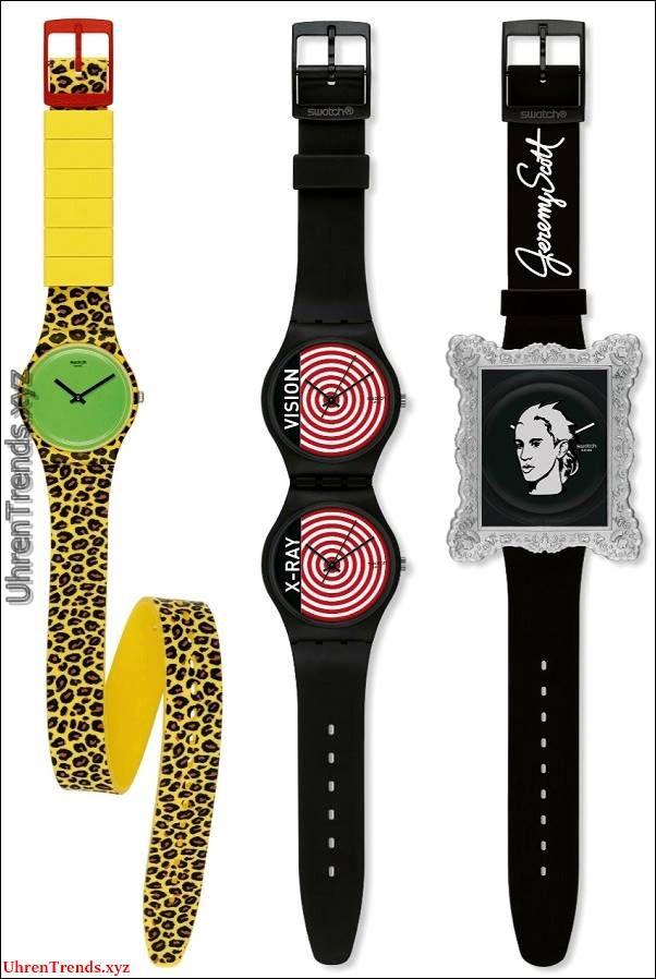 Swatch Jeremy Scott Geschmolzene Minuten Armbanduhr & Hypnotische ...