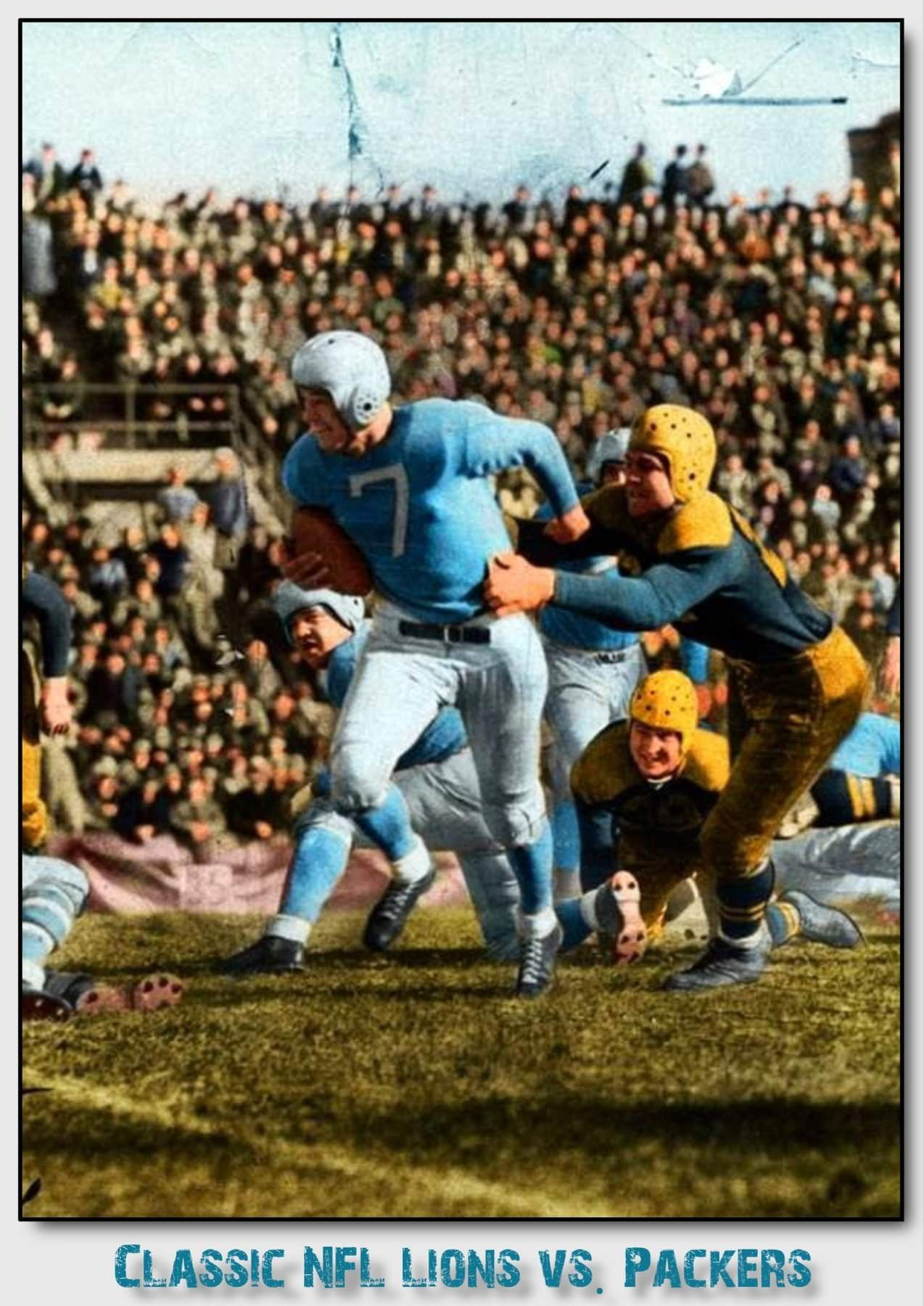 Old School Lions Vs Packers With Images Detroit Lions National Football League Nfl Football