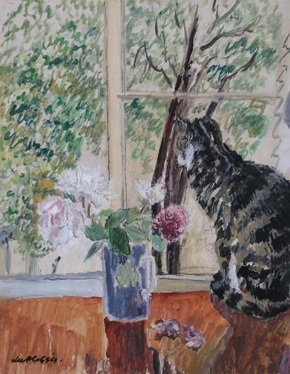 Henry Enslin du Plessis (1894-1978) - Cat in the Window