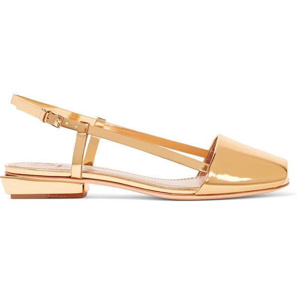 Tory Burch Pietra mirrored-leather sandals (1 260 SEK) ❤ liked on Polyvore  featuring shoes 818c8f1d93cd1