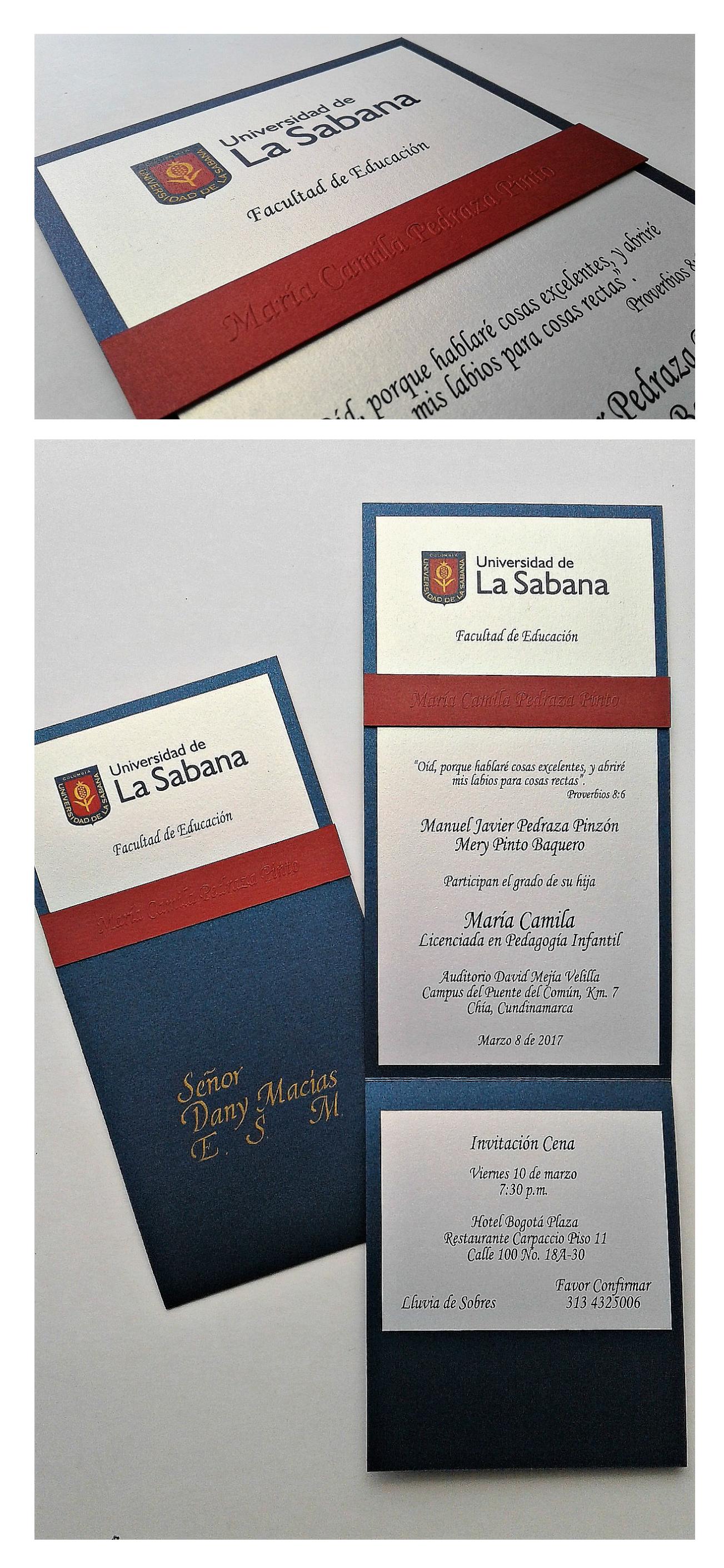 Universidad Lasabana Grados Invitaciones De Grado