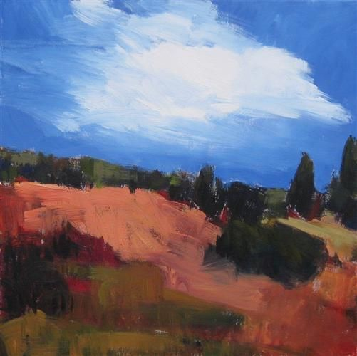 """Windy Hill, Rt. 287"" by Janet Dyer - http://www.ugallery.com/janet-dyer"
