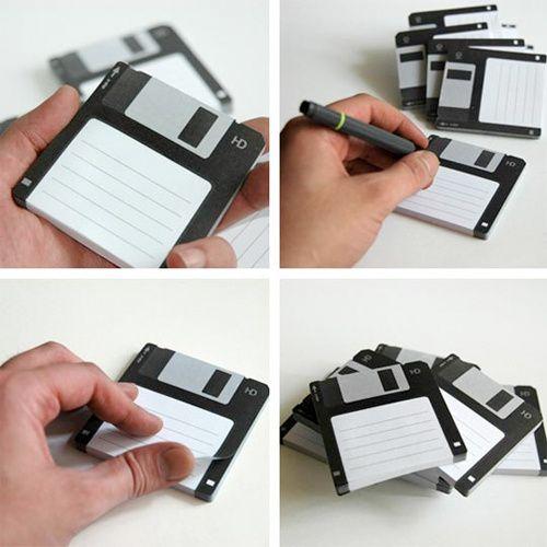 Floppy Disk PostIt Notes Make You Remember Not Just Disks