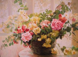 لوحات فنية زيتية بسيطة من اجمل خلفيات شاشه غاية في الجمال Oil Art Paintings Flower Painting Floral Watercolor Paintings Oil Painting Flowers