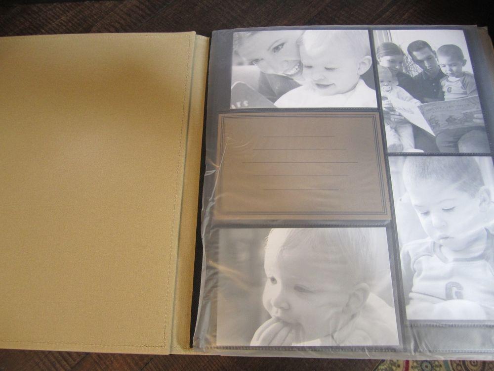 black creative memories 11x14 picfolio album multi pocket pages