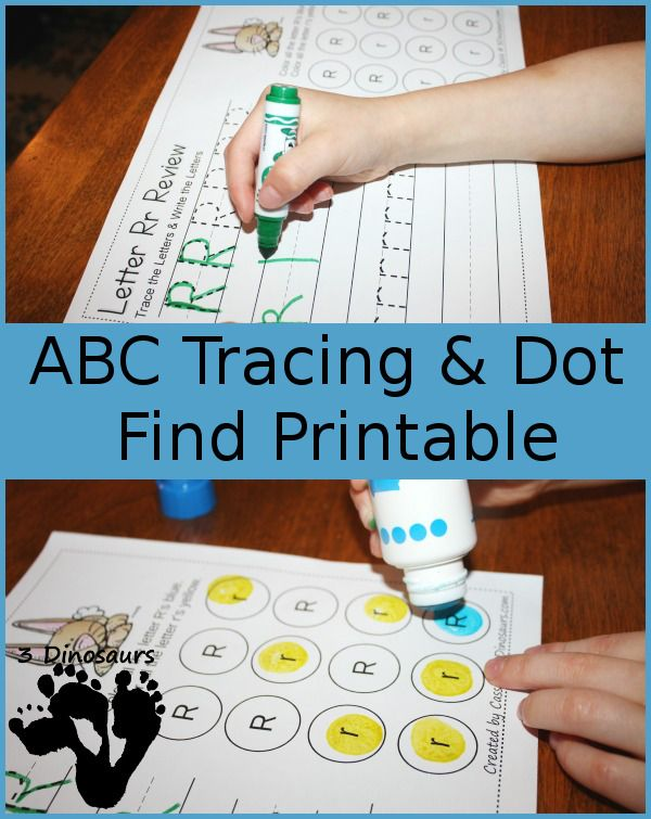 FREE ABC Dot Tracing Printables | Markers, Free and Homeschool
