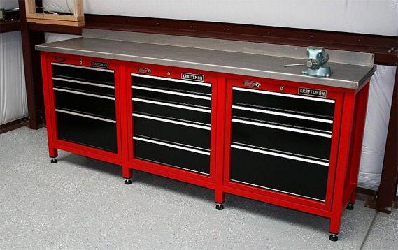 Craftsman Workstation With Images Garage Work Bench