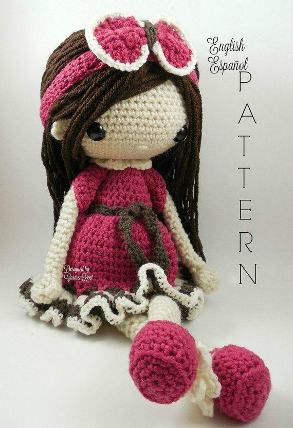 Nathalie-Amigurumi Doll Crochet Pattern PDF   Ganchillo patrones ...